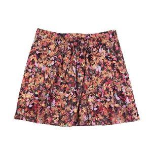 J. Crew Floral Mini Skirt Shirred Cotton V664